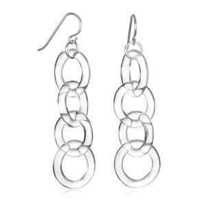 Roxann Slate Jewelry - Glass Circle Chain Earrings