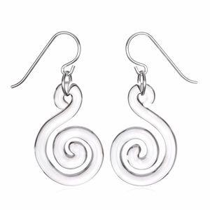 Roxann Slate Jewelry - Glass Spiral Earrings