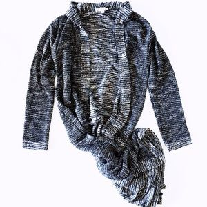 Sweaters - long charcoal cardigan