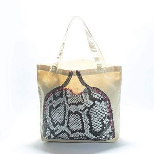 My Other Bag Black & Pink Victoria Canvas Tote