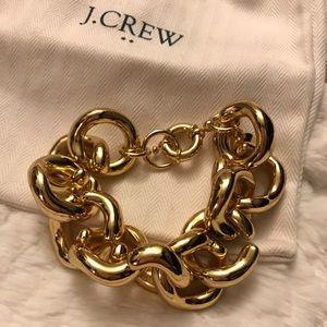 J. Crew Jewelry - J. Crew Classic Gold Chain Link Bracelet