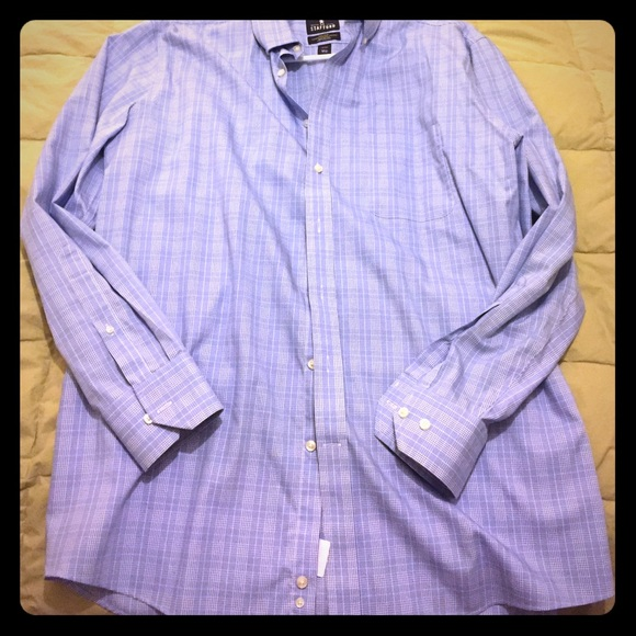 Stafford blue and white plaid stafford dress shirt from for Stafford dress shirts fitted