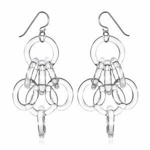 Roxann Slate Jewelry - Glass Cluster Chain Earrings