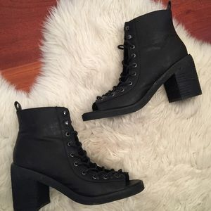 Deena & Oozzy Shoes - lace up booties