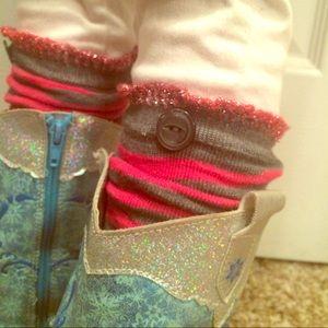Other - Girls leg warmer boot socks