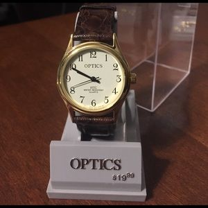Timex Other - Men's Brown Tortoise Leather & Gold Watch