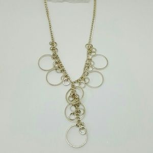 Life by Design  Jewelry - Silver Tone Necklace with Circles Galore! 15 inch