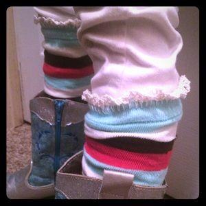 Other - Leg warmer boot socks - striped