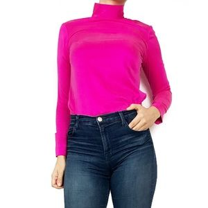 Dana Buchman Tops - Dana Buchman pink silk turtle neck top