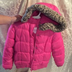Justice Other - Justice girls comfy puffer jacket W/ faux fur