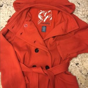 Sebby Jackets & Blazers - Sebby Button-Up Orange Jacket with Belt