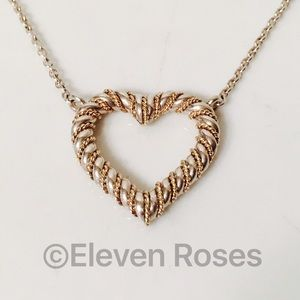 Tiffany & Co. Jewelry - Tiffany & Co Sterling Silver & 14k Heart Necklace