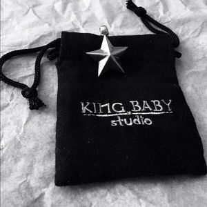 King Baby Studio Jewelry - KING BABY SOLID SILVER STAR PENDANT