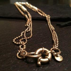 J. Crew Jewelry - NWOT J Crew Multi-strand Pearl Gold Necklace