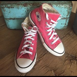 Converse Shoes - Converse Pink High Tops