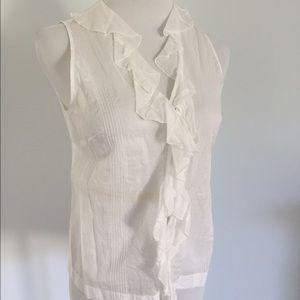 Miu Miu Tops - 📉White Cotton Miu Miu Sleeveless Top.