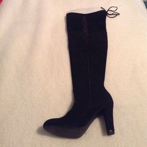 153f1d3bc43 christian Siriano for Payless Shoes - Christian Siriano Ziya Black Suede  Thigh High boot