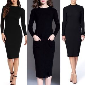 Black Fitted Sweater Dress by Catherine Malandrino
