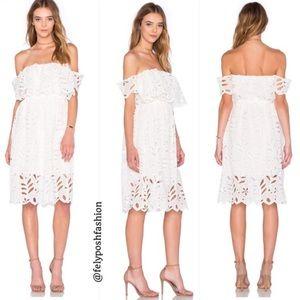 Reverse Elope White Off Shoulder Dress