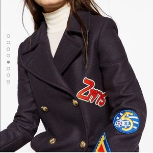 Zara Jackets & Blazers - 🆕 Zara Woman Patch Wool Coat
