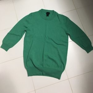 Jcrew green cashmere sweater