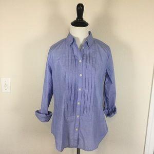 NWT LOFT Pleated Chambray shirt size XS