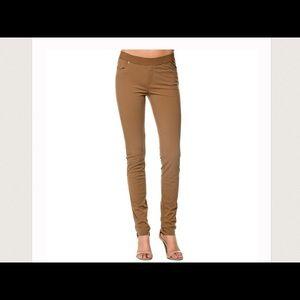 Monoreno Pants - Brown textured stretch leggings