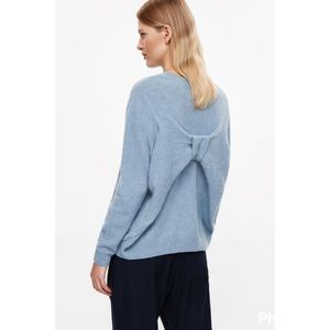 COS Sweaters - COS Sweden bow detail oversized sweater