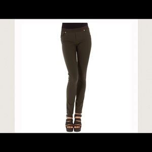 Monoreno Pants - Olive Textured Stretch Leggings