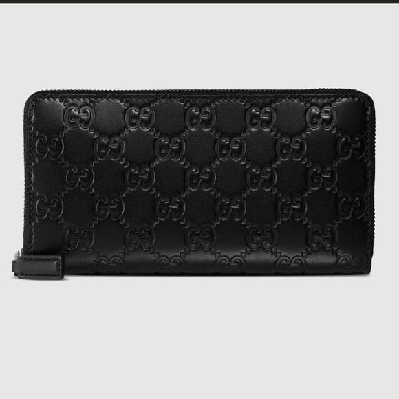 3c65c77619b Gucci Handbags - Gucci Signature Zip Around Wallet