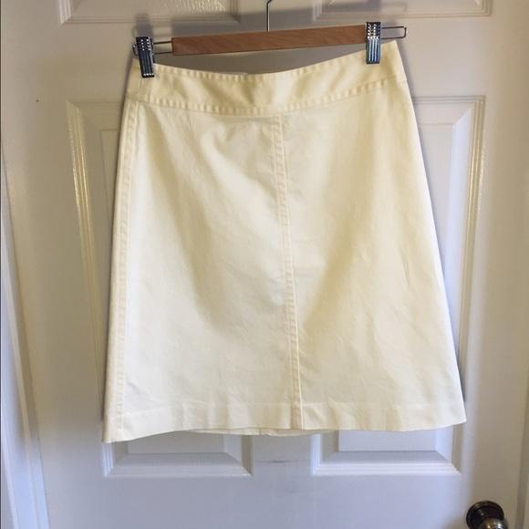 02ce478947 Banana Republic Skirts | Light Yellow Skirt Knee Length | Poshmark