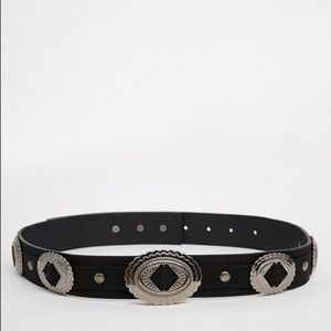 Accessories - Black Concho belt