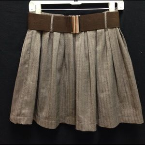 Mustard Seed Brown Skater Skirt
