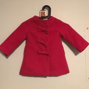 Child's pink pea coat