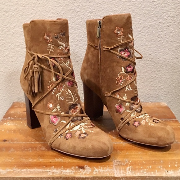 b5db22be217e Sam Edelman Embroidered Suede Boots