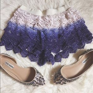 Free People Pants - Crochet shorts