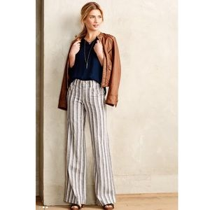 NWT ANTHROPOLOGIE Pilcro Striped Linen Trousers