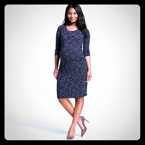 Liz Lange Dresses & Skirts - Liz Lange Gray Maternity Bodycon dress 3/4 sleeves