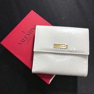Valentino Handbags - NIB Valentino White Patent Python Leather Wallet