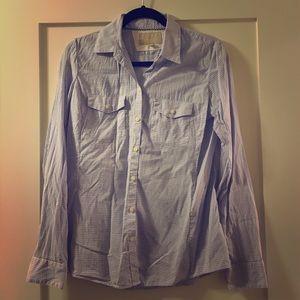 Banana Republic lavender and white cotton shirt 