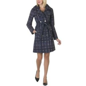 Richard Chai Jackets & Blazers - Richard Chai for Target Plaid Trench Coat