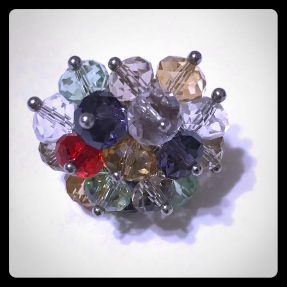 Adjustable Multi-Colored Glass Bead Ring [JW-75]