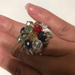 NuBella Jewelry - Adjustable Multi-Colored Glass Bead Ring [JW-75]