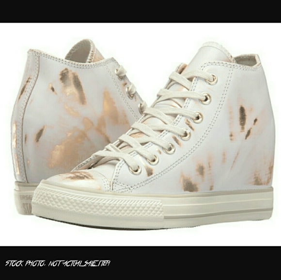 027e2c2cb4ebab Converse Shoes - Converse Leather Lux Brush Off Hidden Wedge