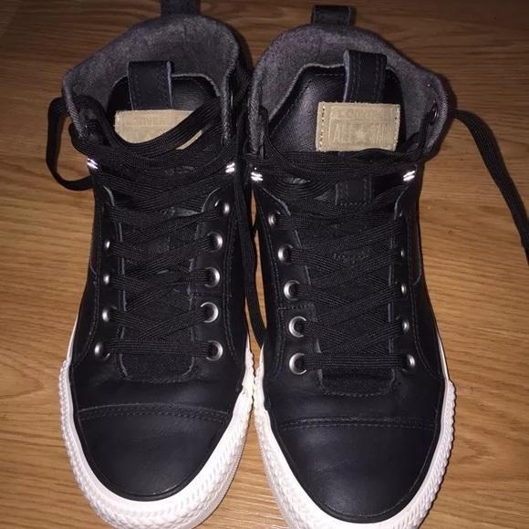 517184a1767df4 Converse Shoes - EUC Converse Chuck Taylor CT Asylum mid black