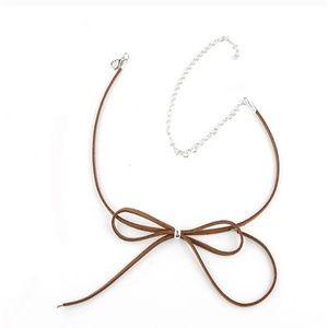 Jewelry - Brown Bow Choker