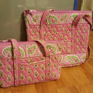 Vera Bradley Bermuda Pink Paisley Purse & Tote