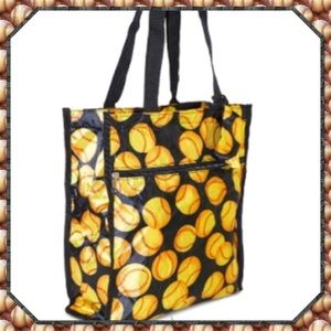 Softball Print Tote with Coin Purse