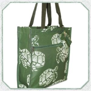 Turtle Print Tote with Coin Purse