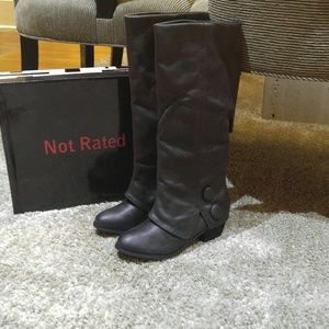 Not Rated Shoes - Not Rated Bailey Charcoal Boots